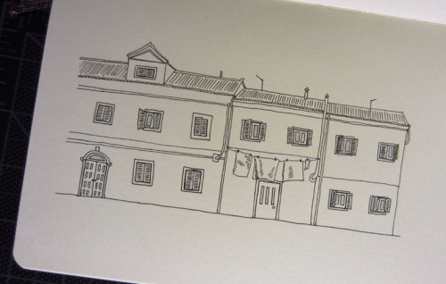 Practicing my linework by doodling some buildings from Venice.