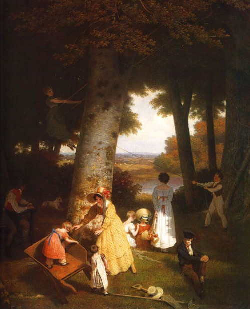Jacques-Laurent Agasse :: The Playground, 1830