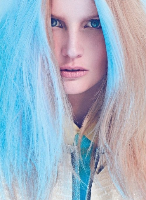 stormtrooperfashion:  Publication: Harper's Bazaar TurkeyIssue: March 2012Title: Pastel BeautyModel: Katrin ThormannPhotography: Koray BirandStyling: Mahizer Aytaş