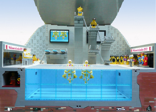LEGO Olympics 2012 Aquatic Centre front view by Bricks for Brains on Flickr.