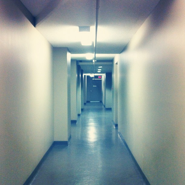 This hallway sets the mood for a SciFi horror scene…!  (Taken with Instagram)