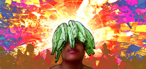 Psychedelic platano Collage