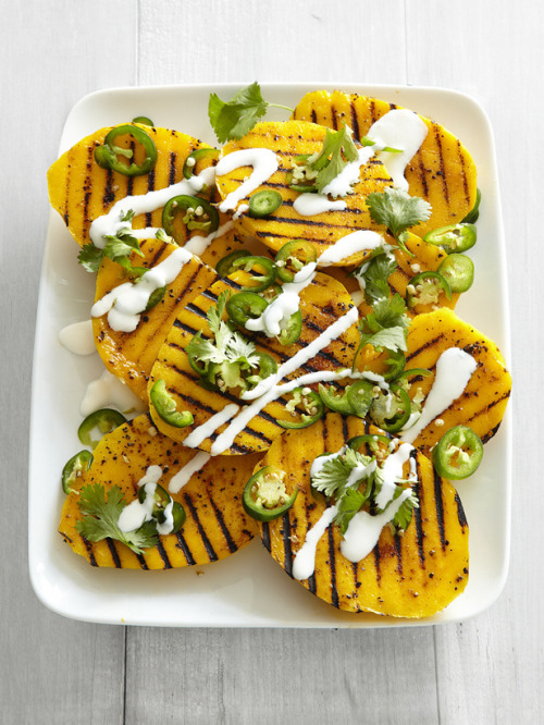 yummyinmytumbly:  Grilled Mango with Jalapenos