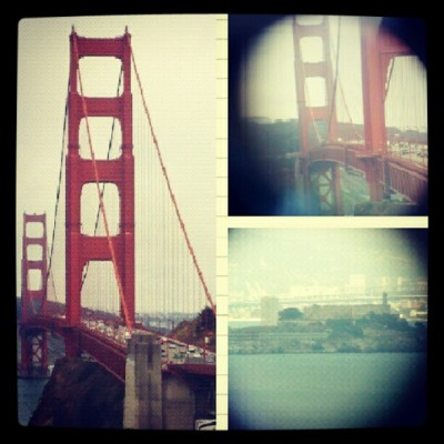 #golden #gate #bridge #telescope #view (Taken with Instagram)