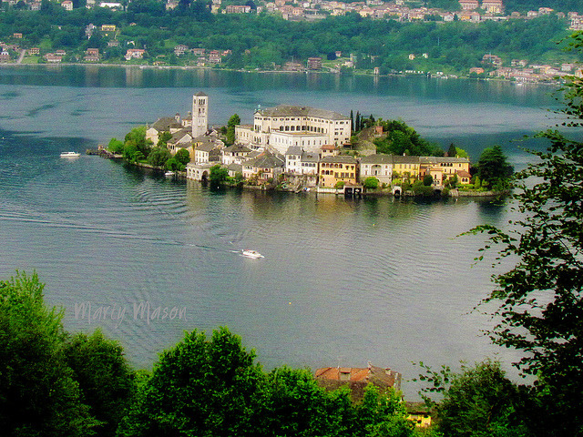 | ♕ | Picturesque Isola San Giulio - Lake Orta, Italy | by © Marty Mason