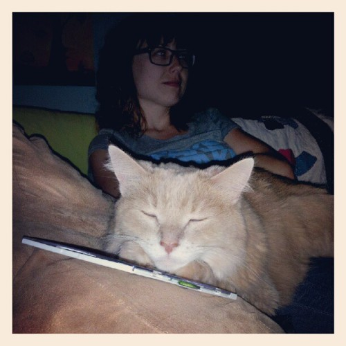 Genna and a Fluff on girls night. (Taken with Instagram)