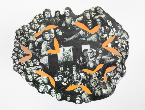 Mary Beth Edelson Staging the Revolution: October 31st, 1972  collage