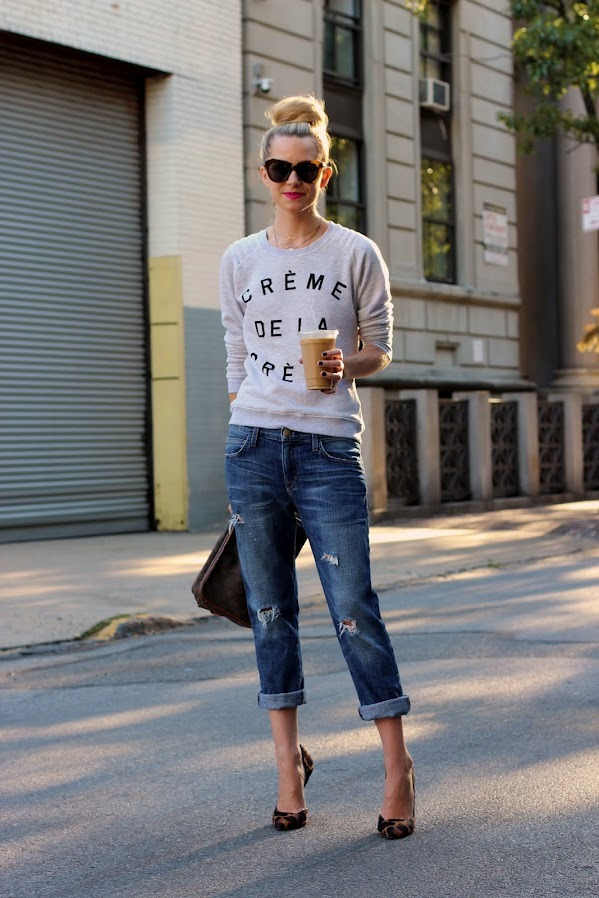 glamour:  Dressed up denim.