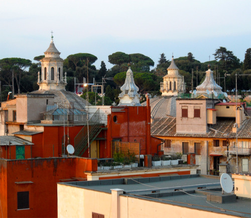 The Roofs Of Rome As seen from the panoramic terrace of THE FIRST Luxury Art Hotel Roma.  photo: the art resort