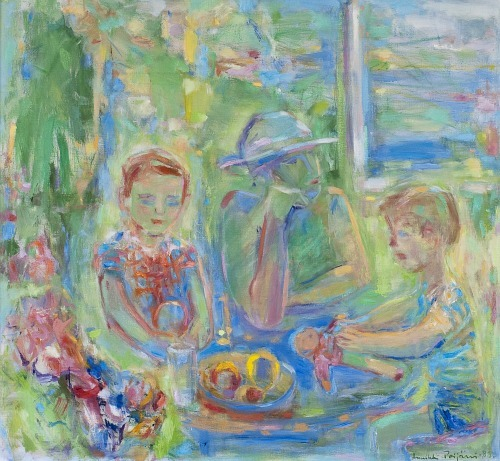 stilllifequickheart:  Annikki Poijärvi Summer on the Veranda 1989