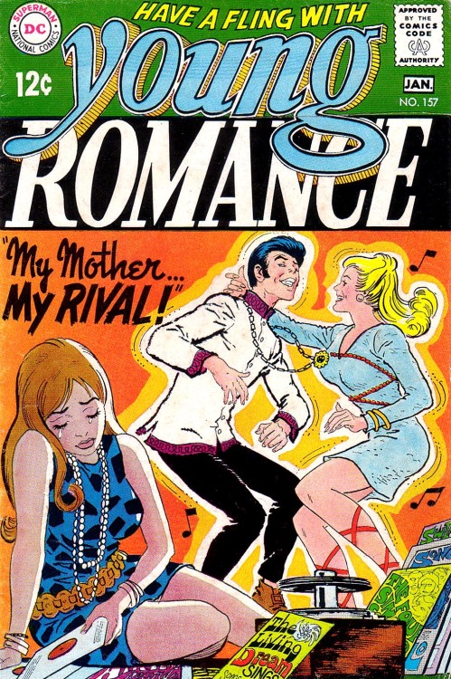 comicbookcovers:  Young Romance #157, January 1969, cover by Nick Cardy