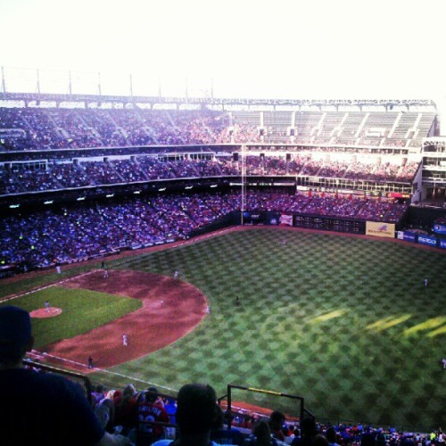 #Redsox at #Rangers tonight. (Taken with Instagram)