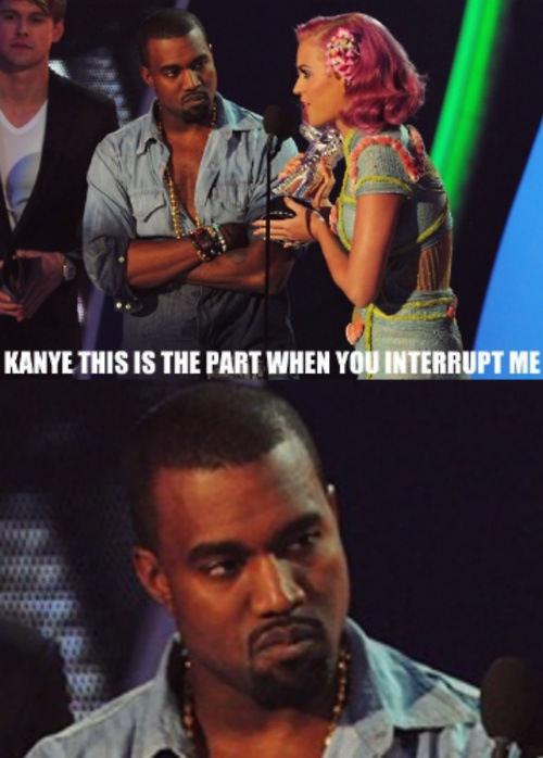 "Man, look at Kanye's ""Disappointment"" face…"