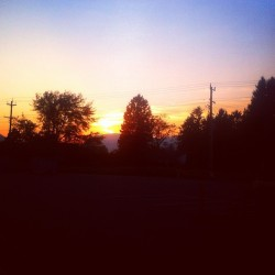 #840pm #sunset #chilliwack #bc #atwork #summer #lifesgood (Taken with Instagram)