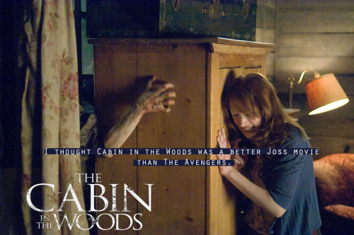 thewhedonverseconfessions:  I thought Cabin in the Woods was a better Joss movie than The Avengers.