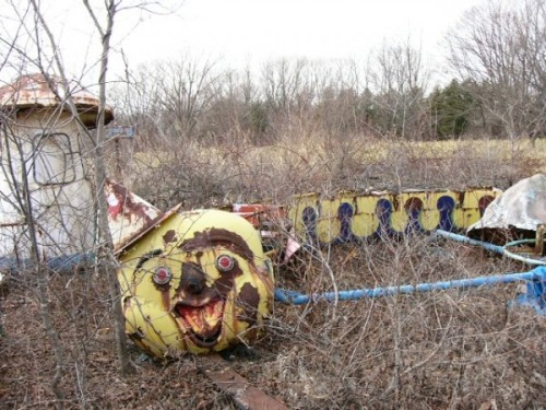 cocacolaislove:  oliviathelion:  fyeahcreepyshit:  In rural Wisconsin, there is an old abandoned park. Built in the 1920s, it served as the town's gathering place for everyone. That is, until a newly developed Train and Tunnel for Tots™ ride was installed in 1932. It was an innocent looking childish train, with one main (mechanized) head car, with three small trolleys pulled behind it. It went around some loops before going into a small tunnel. But this is where the story gets weird. There were numerous cases of child deaths that year, all of them happening after the child rode on that train system. Some kids went missing in that short tunnel (about ten feet), and others went comatose after leaving. One, upon exiting, was found to be dead. Her dress was covered in what looked like small bloody handprints. Some killed themselves by scratching at their throats until they bled out, and one of them even killed another child before hanging herself with razor wire at the family's farm. The park was closed, and the town's popularity as a tourist town plummeted. Recently, a team of scientists were sent out to the park. They taped a video camera to the train, and put a new intern in with it, before sending it on its way onto the tracks. When the train left the tunnel, it was empty, except for the camera. The last ten seconds were nothing but static, save for the sound of children laughing.  ho shit woah now