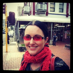 MsB in her new Rose tinted shades (Taken with Instagram)
