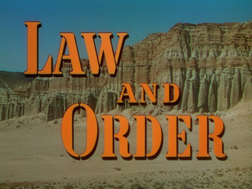 (via Law and Order (1953) Opening credits)