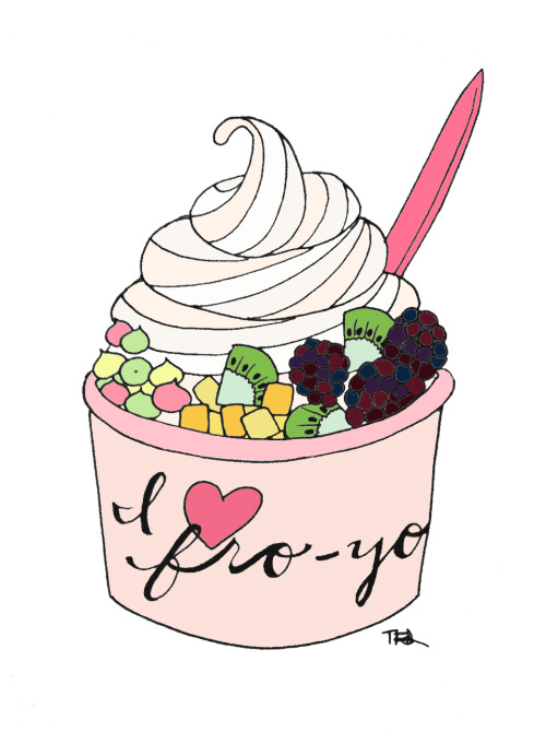 Frozen yogurt love.