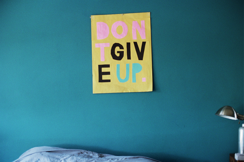 / nevver:  Don't give up