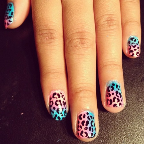 I have like a million nail pics to share & I always forget to post.. #leopard #nailart for my cousin.. (Taken with Instagram)