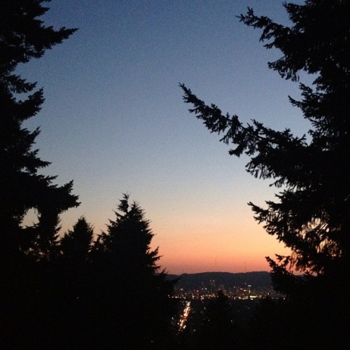 evening city framed (Taken with Instagram at Summit of Mt. Tabor)