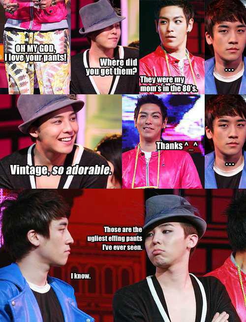 kpopisfantasticbaby:  Hahaha! Bad GD and Seungri! >.<