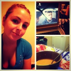 #picstitch sleepy, tomato soup, broken laptop, supernatural (Taken with Instagram)
