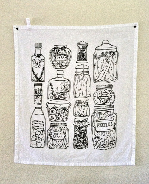 New pickle print tea towels in the shop!