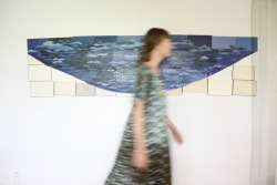 ericatanov:  afton wearing the 'girard' caftan in wave silk charmeuse print based on the artwork by emily payne..part of a beautiful collaboration photo by sabine elser fall 2012 erica tanov collection www.ericatanov.com