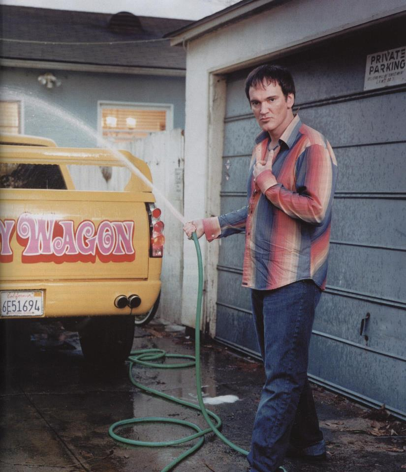 archetypeworldwide:  Quentin Tarantino with his Pussy Wagon