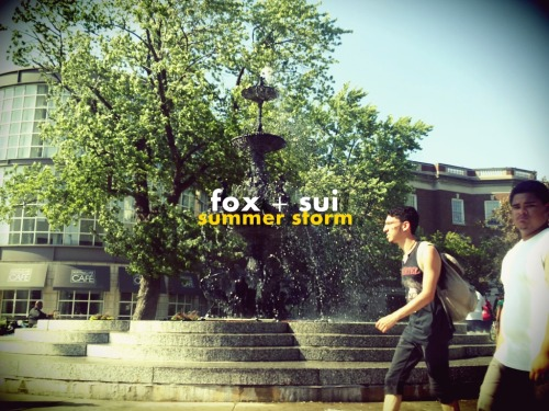"FOX + SUI - SUMMER STORM i heard this song over at moteldemoka. a blog that i have never contacted or worked with, but i respect so so highly. the song was summer storm by fox + sui. blew my mind away. images of bubbles, flakes, bjork, coconuts, smiles, so many smiles n some people dancing in the sand. with the toes all in. kinda a cheese image, but the last time this happened to me was a really long time ago. (it was when i heard ""at the river"" by groove armada). if you know the feeling, then ya know. couple of drinks later and im furiously typing this post to make sure people hear of these two.  good place to start… two bright lakes mini description maybe a picture to put the faces to it. n they are fucking cute n awesome. hope you enjoy. the tune i heard below, n the bank of it here.  i even got so into it, i decided to make a little poster for em up top. this is love at first sight. i support n i wish the best for fox + sui.  goodnite  DOWNLOAD [MP3 / 192KBPS]"
