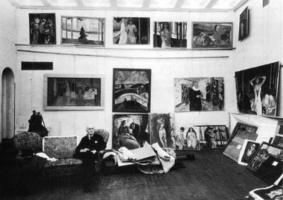 lastdreamofjesus:  Munch in his studio; 1938.