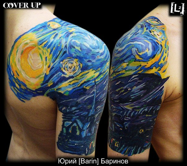 "fuckyeahtattoos:  I love Van Gogh's ""Starry Night""))"