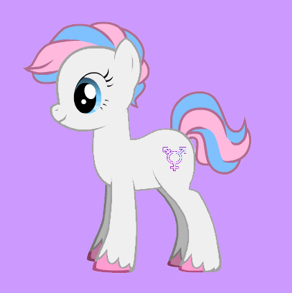 Trans Pony cause nothings wrong with being Trans <3 All my Love to the Trans Community! xoxoxox