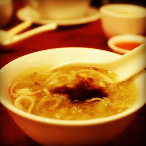 Sharkfin Soup with Fish Maw and Crab Meat. (Taken with Instagram)