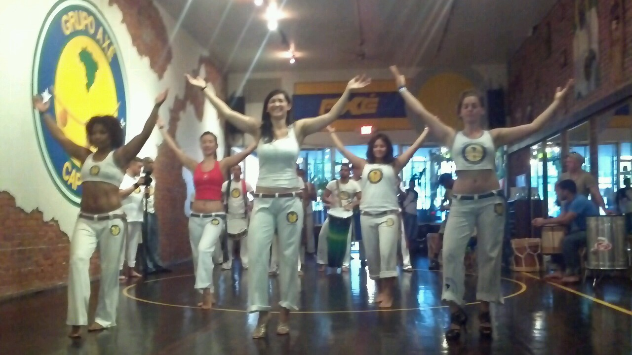 More maracatu rehearsal at Axé Capoeira.