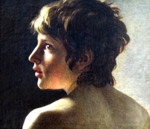 worldpaintings:  Gottlieb Schick Head of a Youth, c 1800 - 1802, oil on canvas, The Alte Nationalgalerie, Berlin.