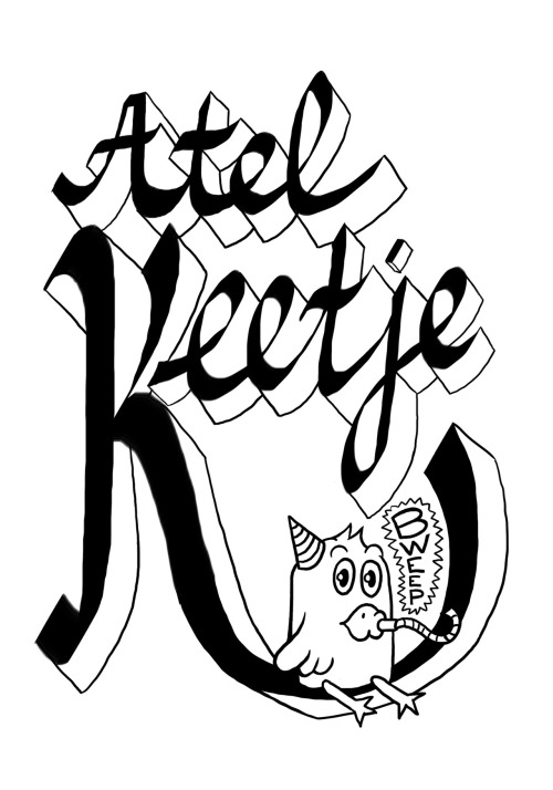 Giftbag design for Atelkeetje workshops. Been a while since I posted something, summer's keeping me busy!