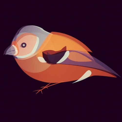 Quick vector - Chaffinch (Taken with Instagram)
