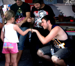 This little girl better be thankful that see got to meet such an amazing band. Josh Franceschi, you are amazing..