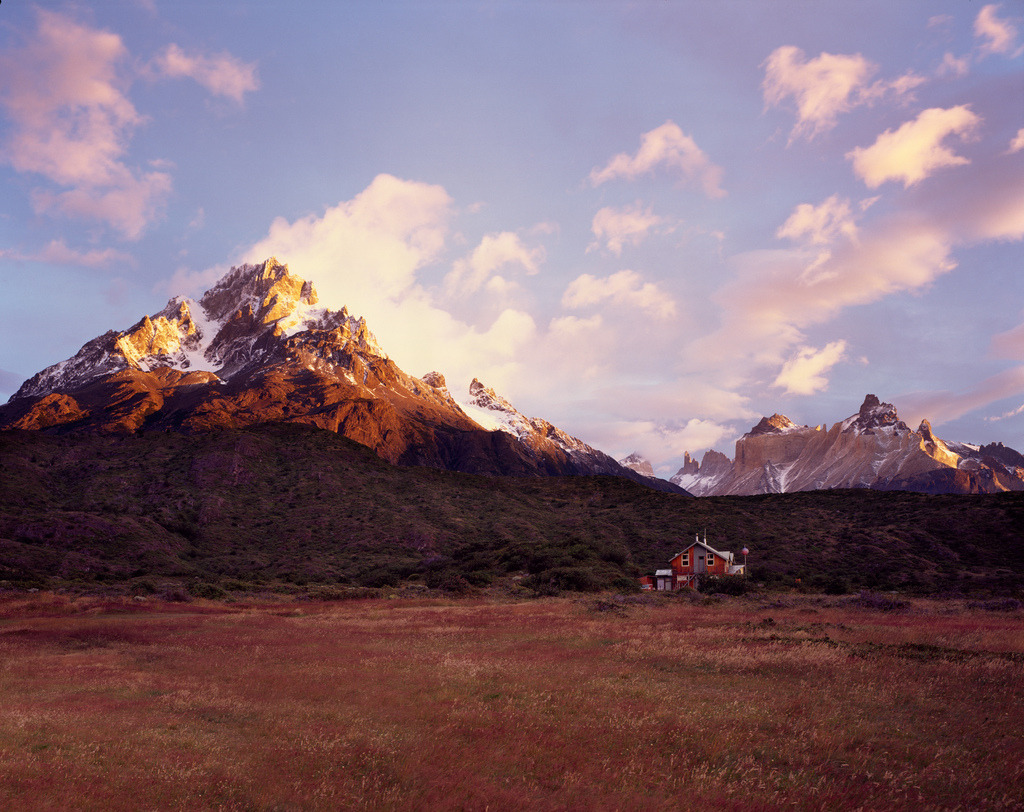 definitelydope:  sun rise over Torres del Paine 4x5 (by spiky247)