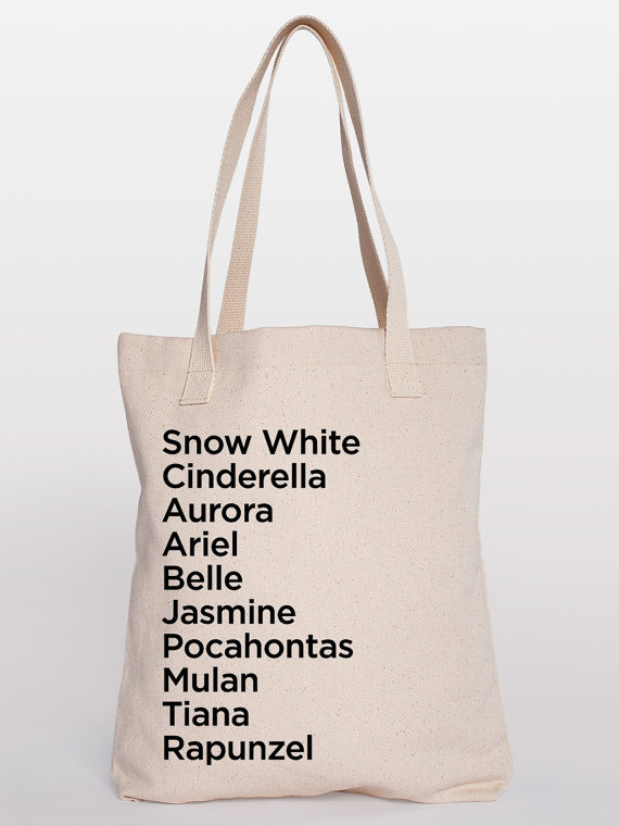 Princess Names Tote Bag