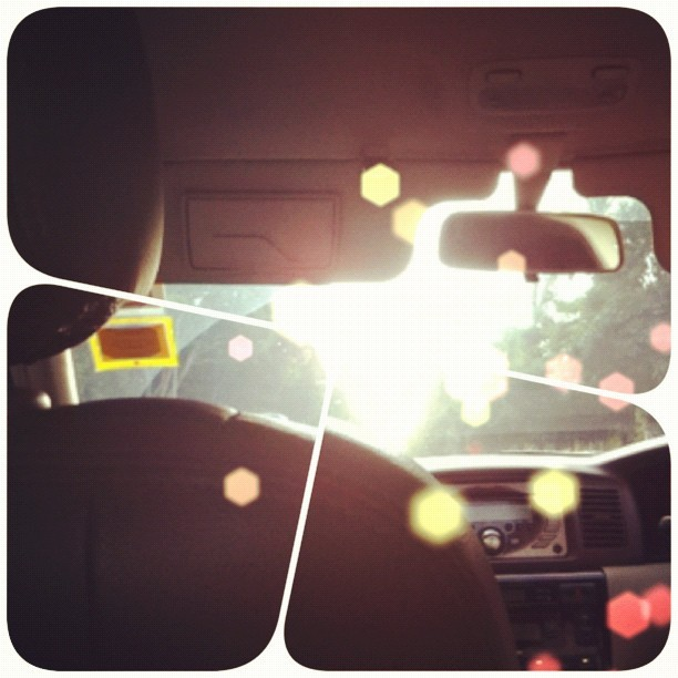 #Bokehful reaching #home (: #sunset #singapore #bokeh #car #pov (Taken with Instagram)