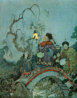 Edmund Dulac, Nightingale Bridge on Flickr.  Via Flickr: Edmund dulac 1911, the nightingale
