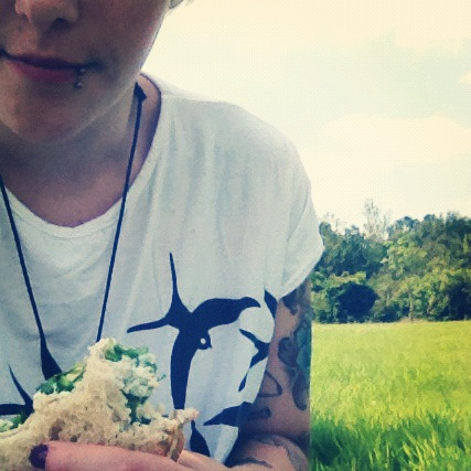 Today will be spent as yesterday, sitting in a field reading and eating sandwiches.