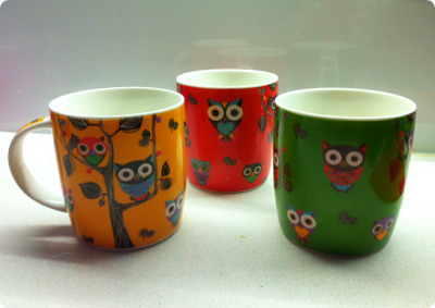 My new owl cups. I LOVE them!