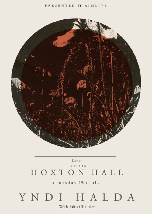 Gig poster for Yndi Halda - screenprinted limited edition