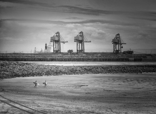 Industrial Surfs' up. Shot at Port Talbot, Wales.