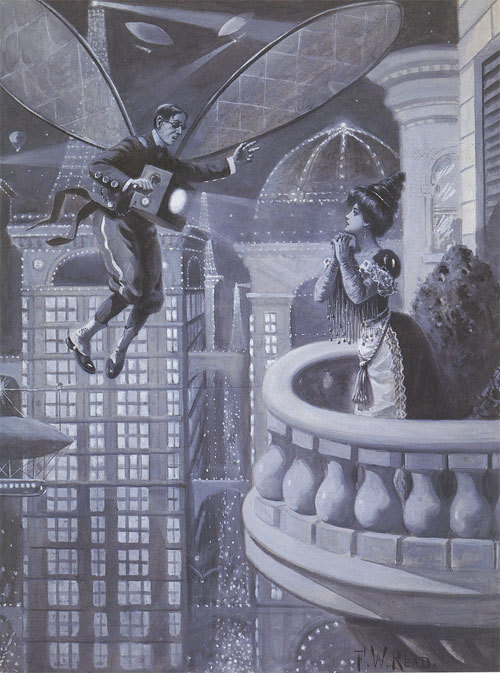 "sunday fantasy #379: ""In Futuro"", by F. W. Read, from an unknown issue of Life Magazine, 1901 (via Paul Malon's flickr)"